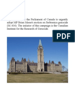 World Intellectuals Urge Adoption of Srebrenica Genocide Motion in the Parliament of Canada