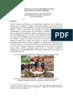 La Gestion de Proyectos de Inversion Publica