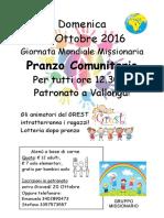 manifesto pranzo missionario 23-10-2016