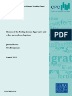 Review of the Rolling Census Approach