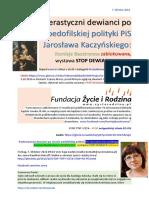 W obronie pedofilii w Kielcach 3.10.2016 Czarny Marsz przed ktorym ugial sie dewiant Jaroslaw Kaczynski w Sejmie 20161007 Magazyn Europejski SOWA