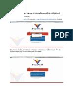 Pasos a Seguir Para Ingresar Al Ecuapass (Internet Explorer)