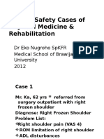 Patient Safety Cases of Physical Medicine & Rehabilitation (IKFR)