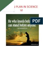 Lesson Plan in Science Vi Cover