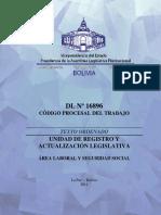 LABORAL- Codigo Procesal Del Trabajo - SL
