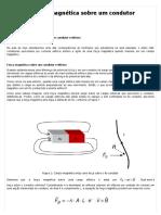 Força Magnética Sobre Um Condutor Retilíneo