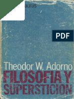 Theodor W. Adorno - Teoría de La Pseudocultura