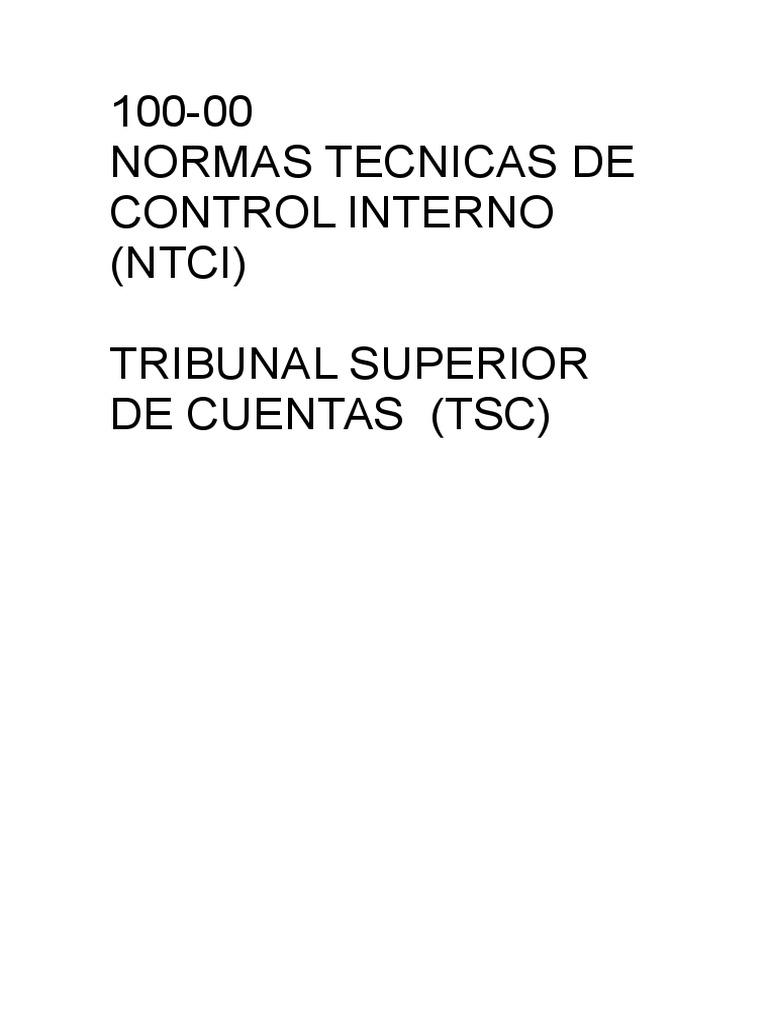 NTCI Normas Tecnicas de Control Interno (TSC)