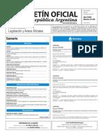 Boletín Oficial de la República Argentina, Número 33.478. 07 de octubre de 2016