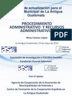 Procedimiento Administrativo y Recursos Administrativos