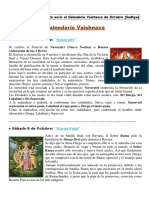 CALENDARIO VAISHNAVA DE OCTUBRE