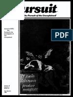 PURSUIT Newsletter No. 53, First Quarter 1981 - Ivan T. Sanderson