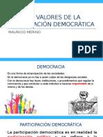 LOS VALORES DE LA PARTICIPACIÓN CIUDADANA