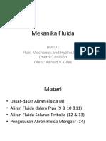 Mekanika Fluida Kuliah 891011