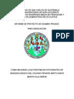 Informe Proyecto de Investigación Acción