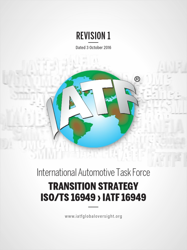 Iatf 16949 Transition Strategy And Requirements Rev01