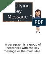 Identifying Key Message