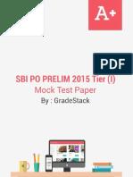SBI PO Prelims Mock Paper GS