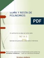 Diapositiva Suma y Resta de Polinomios