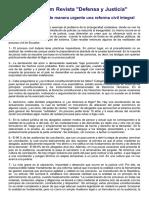 Ecuador Necesita de Manera Urgente Una Reforma Civiil Integral