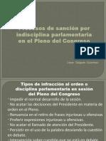 CDG - Disciplina y sanciones parlamentarias en el Congreso (PERU)