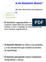 Taxonomia de Benjamin Bloom PP