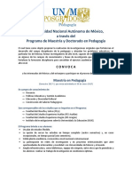 Convocatoria Maestría UNAM 2016