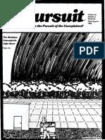 PURSUIT Newsletter No. 63, Third Quarter 1983 - Ivan T. Sanderson