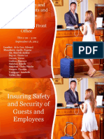 113983631 Insuring Safety and Security of Guests and Employees Training in the Front Office