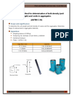 Standard test method for determination of bulk density (unit  weight) and voids in aggregates.