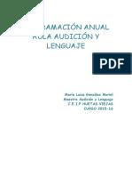 Programacion Anual Aula Audicion y Lenguaje2015-2016