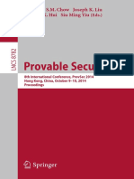 Provable Security_ 8th International Conference, ProvSec 2014,