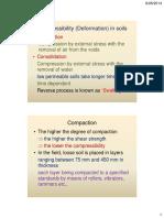 11 Compressibility (Deformation) in Soils