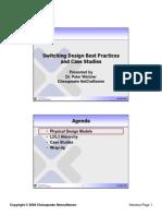 Cisco Switching Design Best Practices and Case Studies
