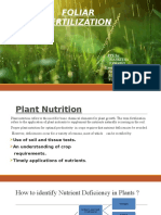 Foliar Fertilization