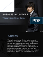 Business Incubators, Social Entrepreneurship Incubators, Incubator services – Vikasa Center