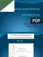Octubre 2012. Miocardiopatia Restrictiva. Dr Eugenio Davila Davila