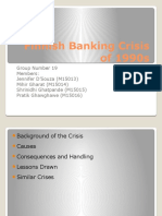 Finnish Banking Crisis of 1990s