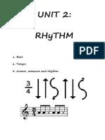 UNIT 2 Rhythm