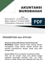 Akuntansi Murabahah Kelompok3 Novindra Bayu Chuswatun
