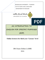 An Introduction to ESP LAMRI
