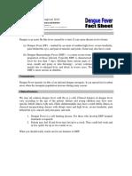 Fact Sheet WH Dengue UPDATED