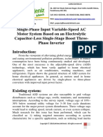 Single-Phase Input Variable-Speed AC Motor System Based on an Electrolytic Capacitor-Less Single-Stage Boost Three-Phase Inverter