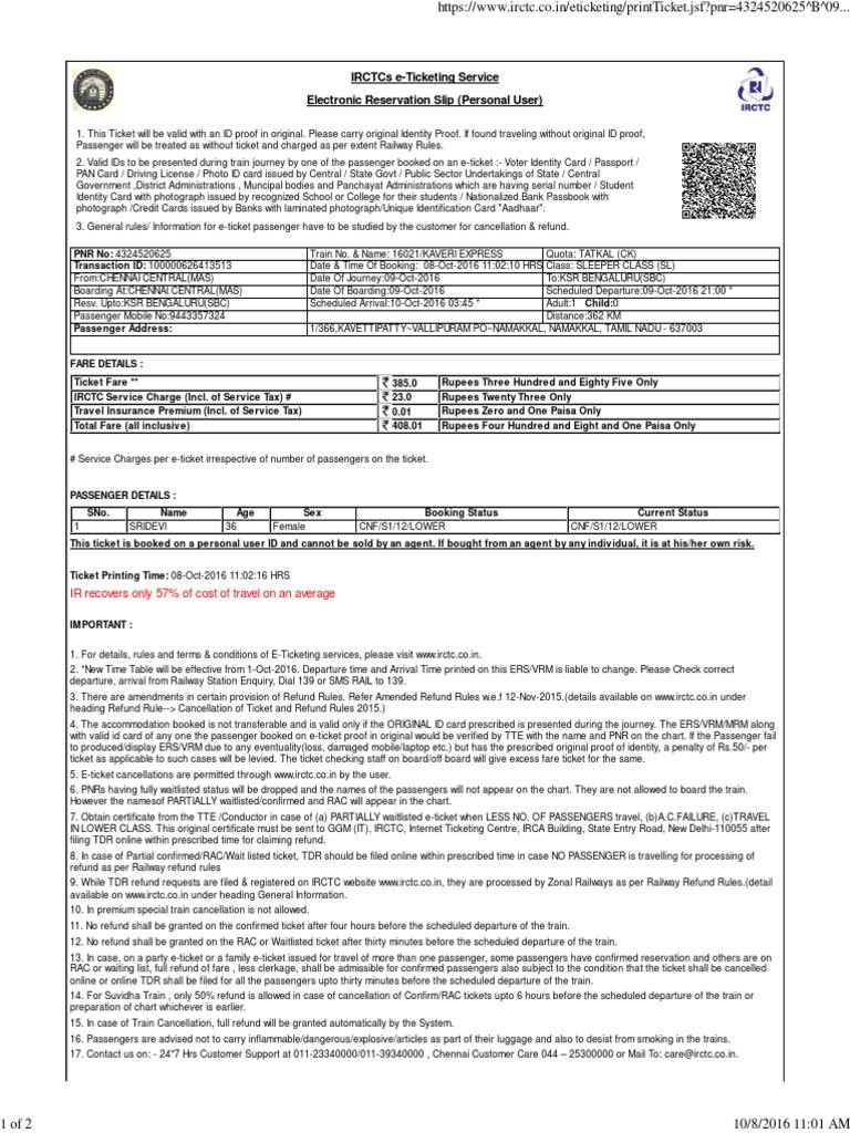Train Ticket Pdf Identity Document Ticket Admission