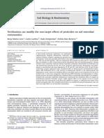 Fertilization Can Modify Non-target Effects Of