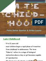 Late Childhood 2