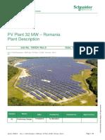 PV Plant 32 MVA - SANO - Romania - PV Plant Description