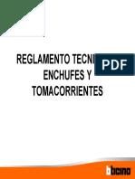 -Reglamento de Enchufes y Tomacorrientes