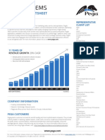 Pegasystems Corporate Fact Sheet 2016