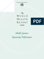 S3f - Reference - The World Health Report 2000 (Health Systems)